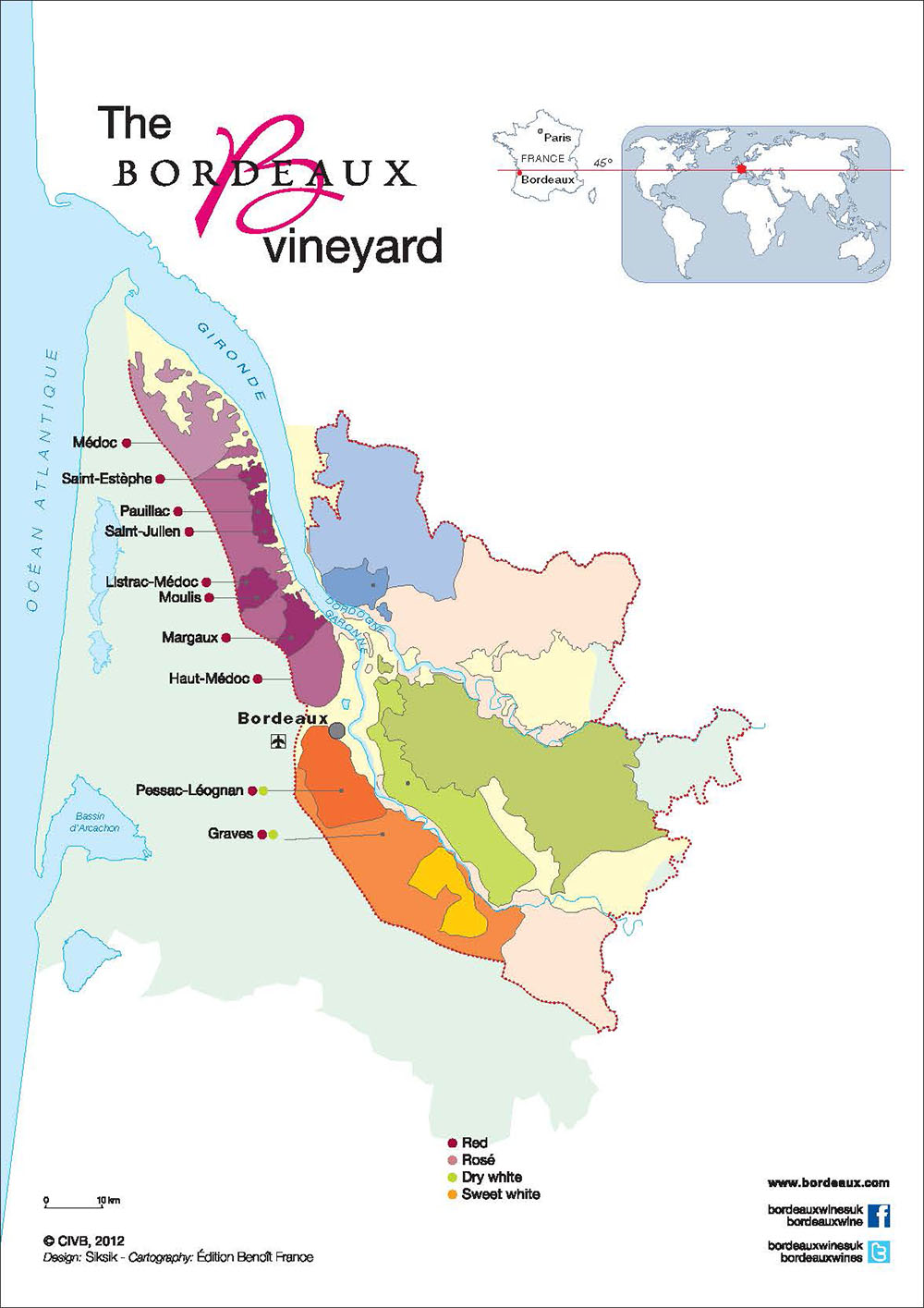 Carte vins Bordeaux Médoc et Graves