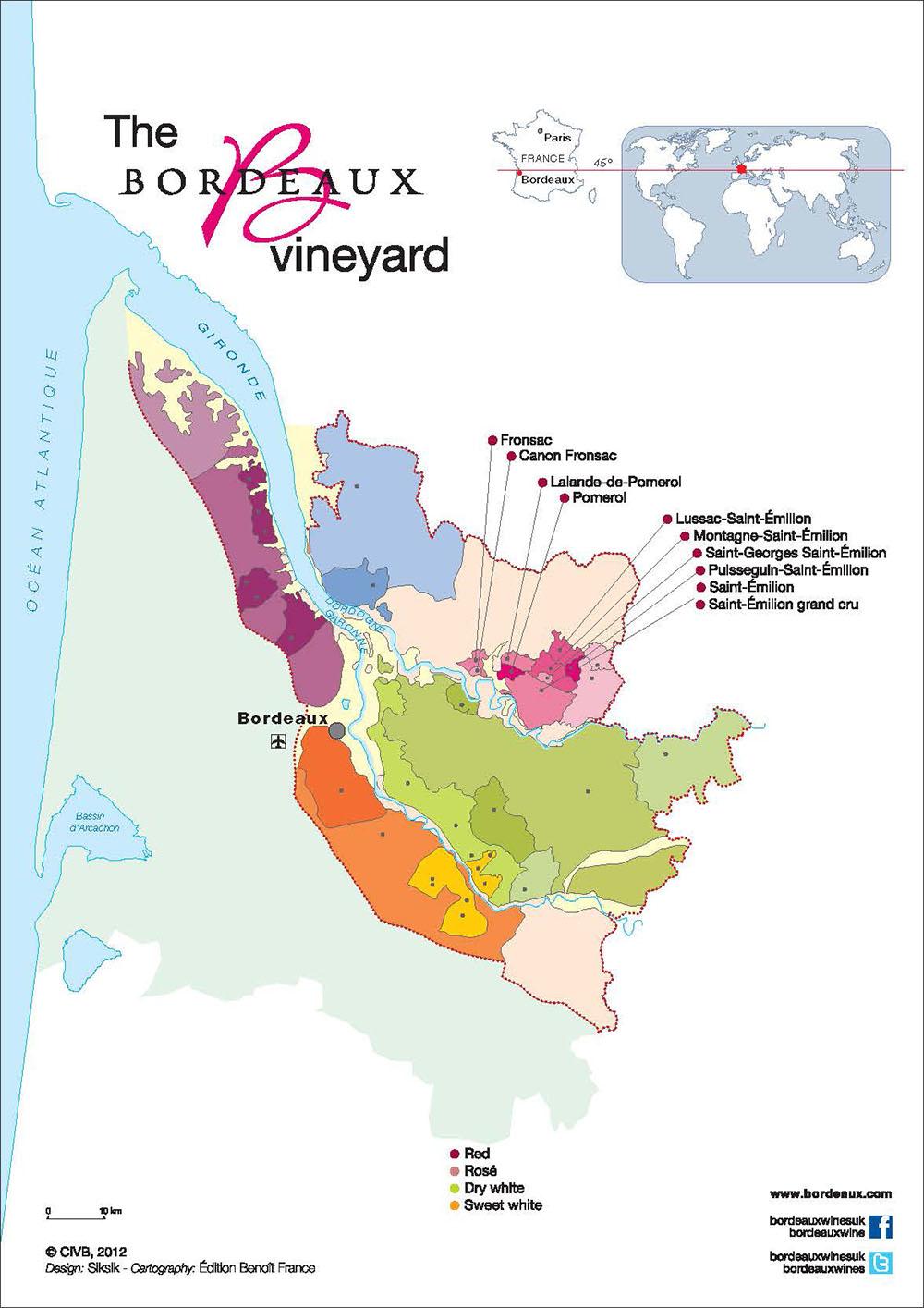 Map Saint Emilion Pomrol & Fronsac